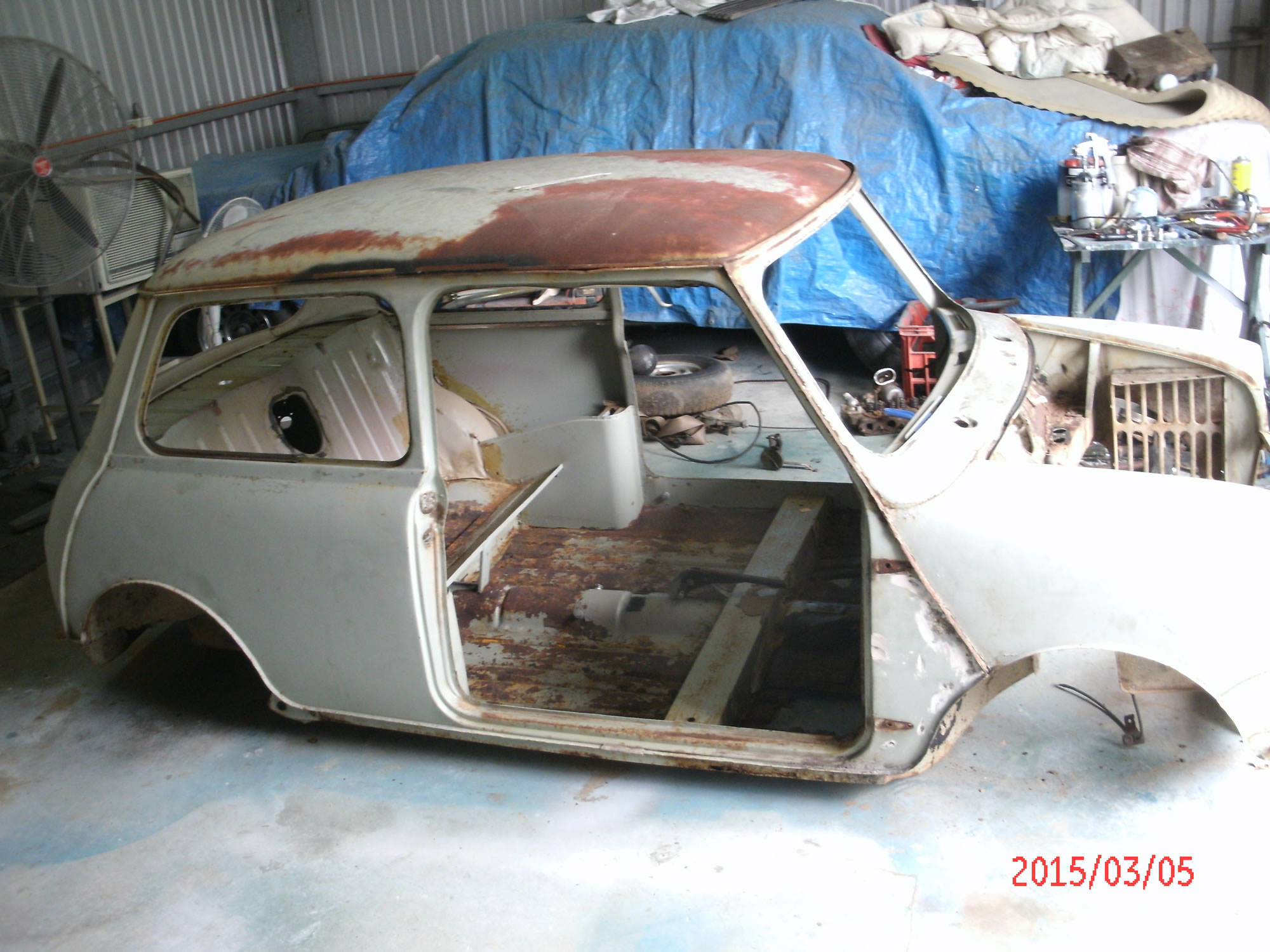 Morris Mini Restoration Workshop 15th April 2015 Gawler Veteran