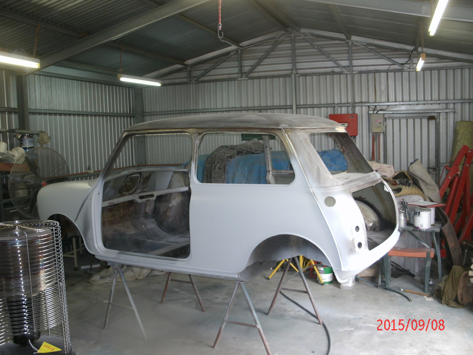 Morris Mini Restoration Workshop Update September 2015 Gawler